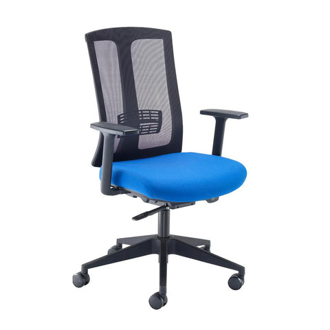 Ronan mesh back operators chair with fixed arms - - Furniture