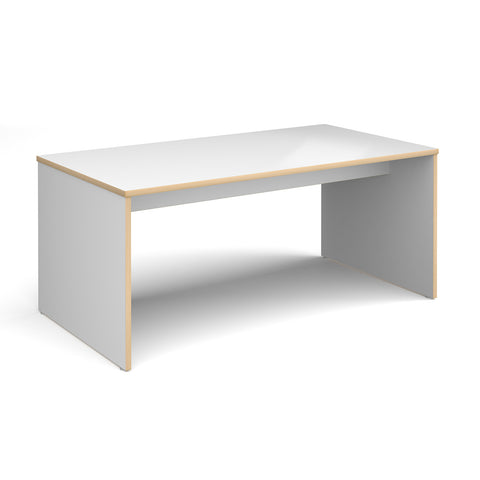 Slab 25 six person table 1700mm x 900mm with 25mm white top - Furniture