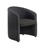 Slender fabric reception single tub chair 620mm wide - charcoal - Furniture