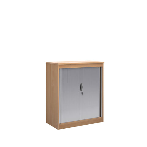 Systems horizontal tambour door cupboard 1200mm high - beech - Furniture