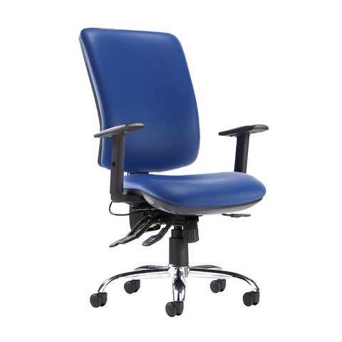 Senza ergo 24hr ergonomic asynchro task chair - Ocean Blue vinyl - Furniture