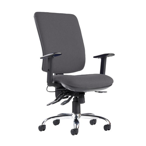 Senza ergo 24hr ergonomic asynchro task chair - Blizzard Grey - Furniture