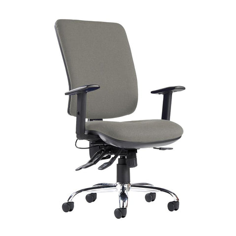 Senza ergo 24hr ergonomic asynchro task chair - Slip Grey - Furniture