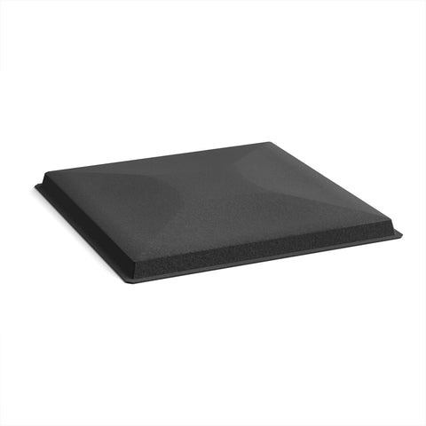 Acoustic felt fabric ceiling grid system tiles (10 pack) - black - Furniture