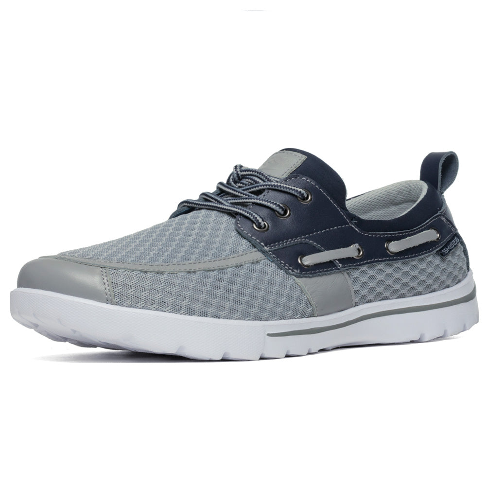 Del Marina by Skuze Shoes - Grey & Navy - Stretch Fit