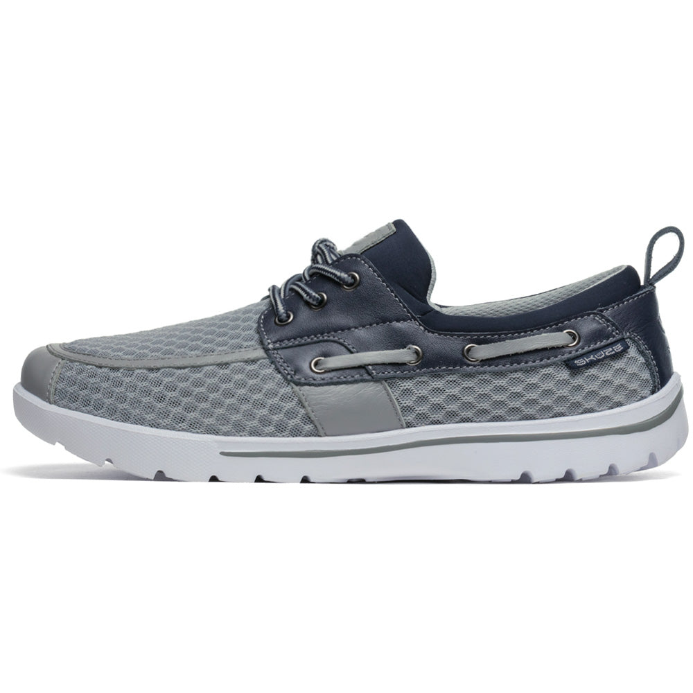 Del Marina by Skuze Shoes - Grey & Navy - Regular Fit