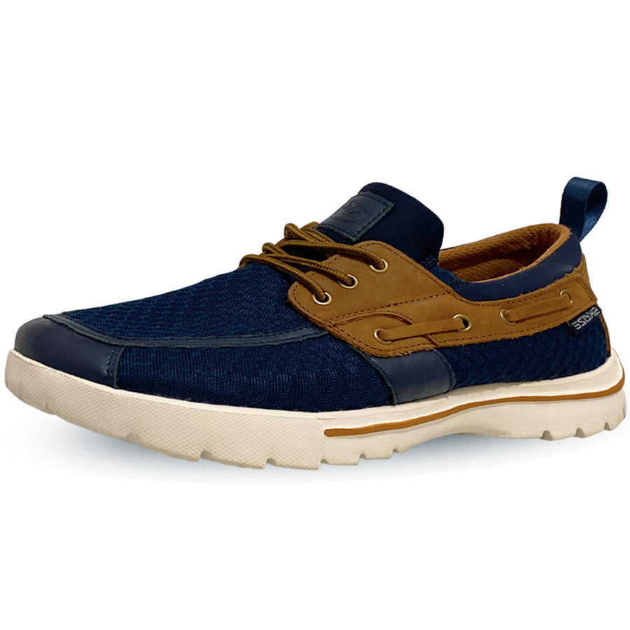 Del Marina by Skuze Shoes <br> Navy & Brown