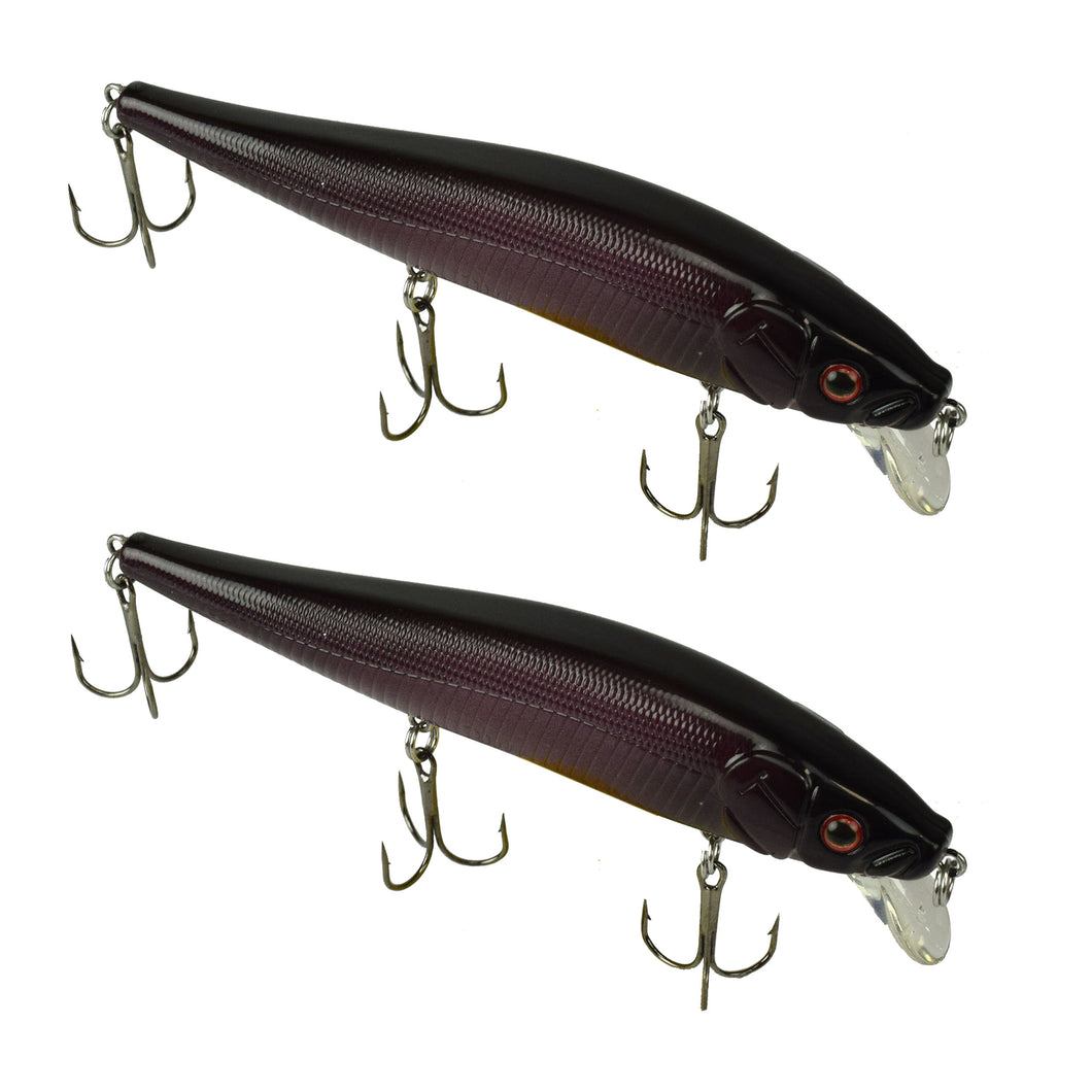 Tackle HD Fiddle-Styx Jerkbait 2 Pack - Deadly Black