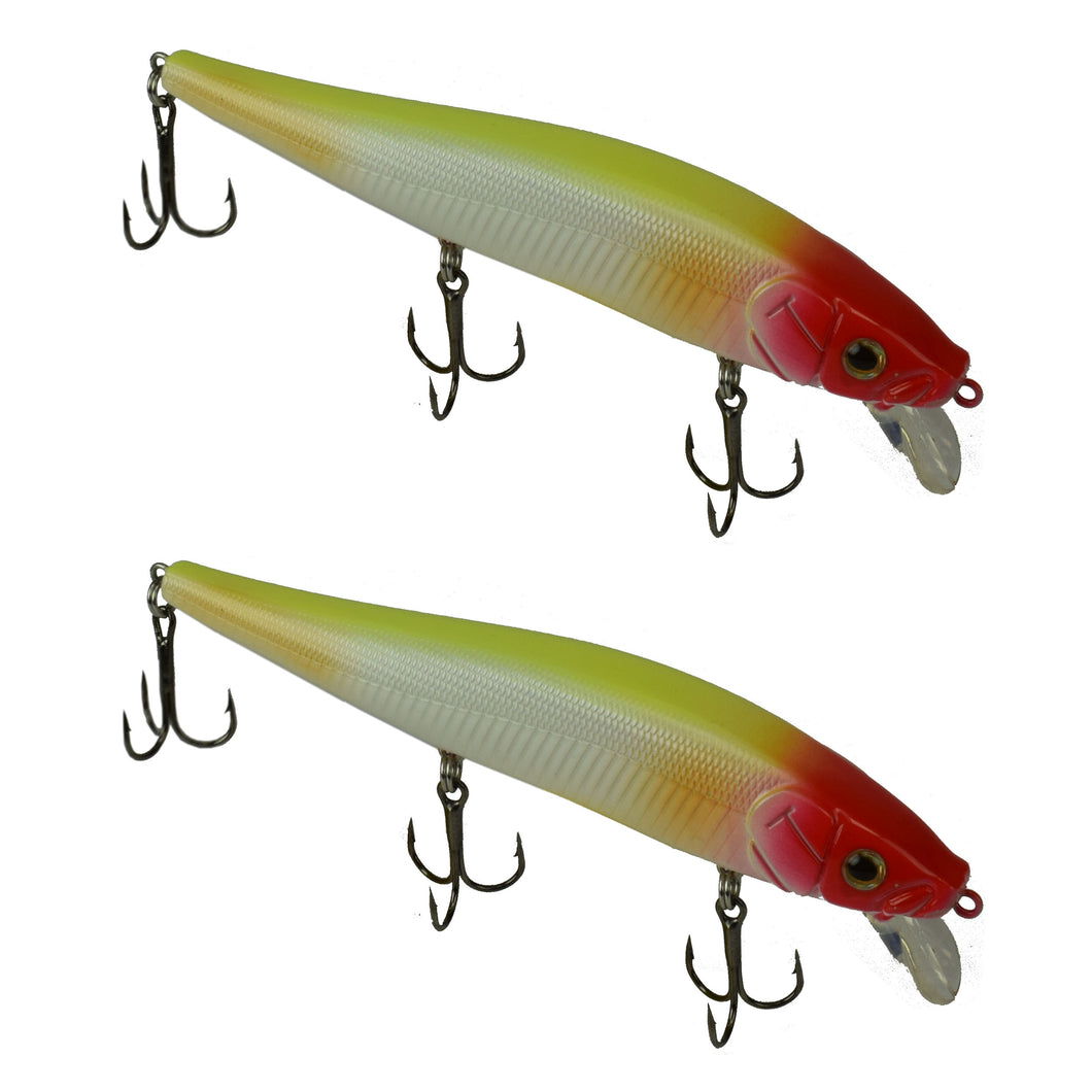 Tackle HD Fiddle-Styx Magnum Jerkbait 2 Pack - Clown