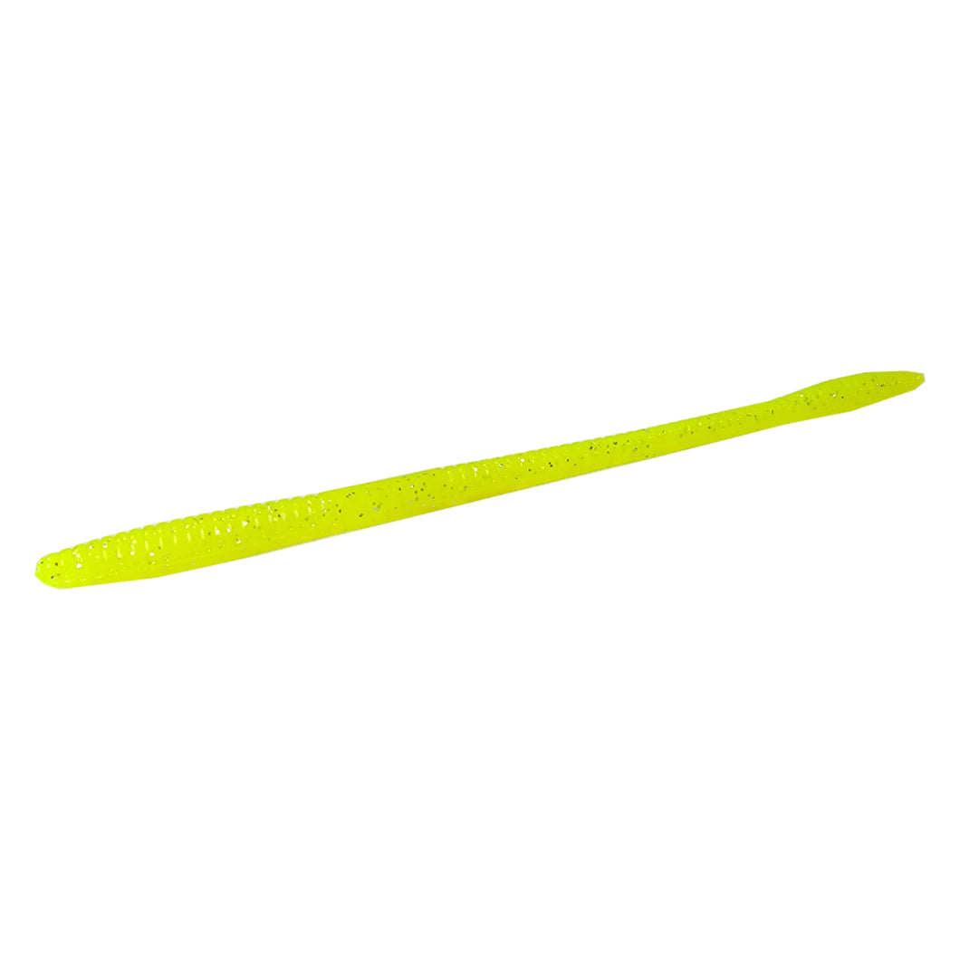 Tackle HD Sweet Stick Worm 7.5-Inch 20-Pack - Chartreuse