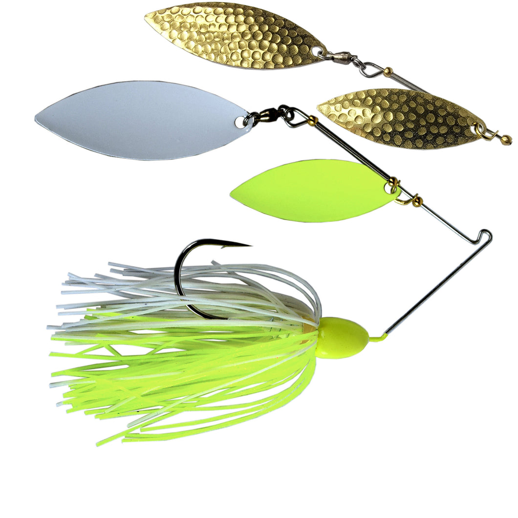 Trophy Bass Ozark Flash 3/4-Ounce - Chart Head/White Chartreuse