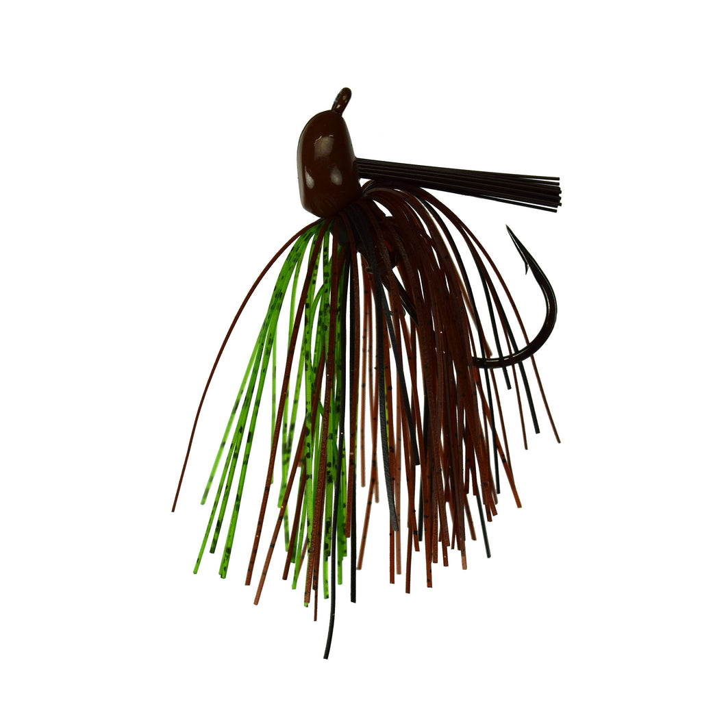 Trophy Bass Co Pro Jig 2-Pack 3/4-Ounce - Brown Green