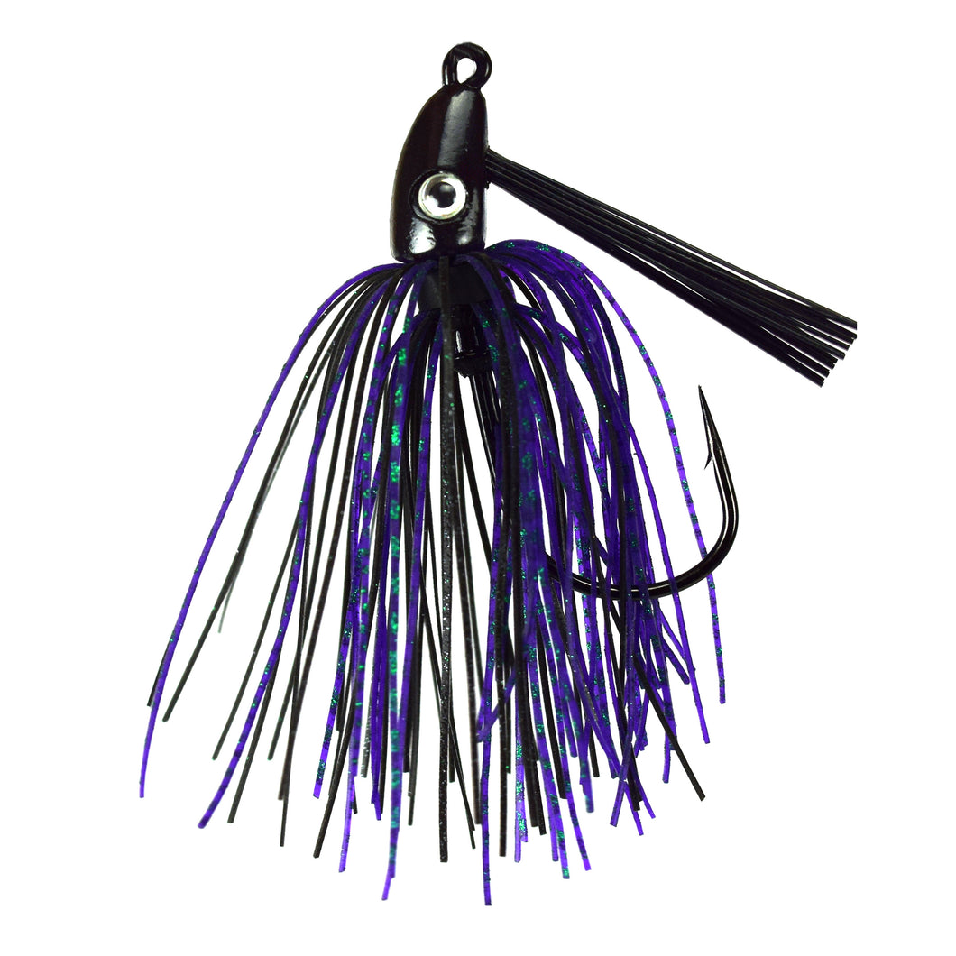 Trophy Bass Co Swim Jig 2-Pack 1/4-Ounce - Junebug