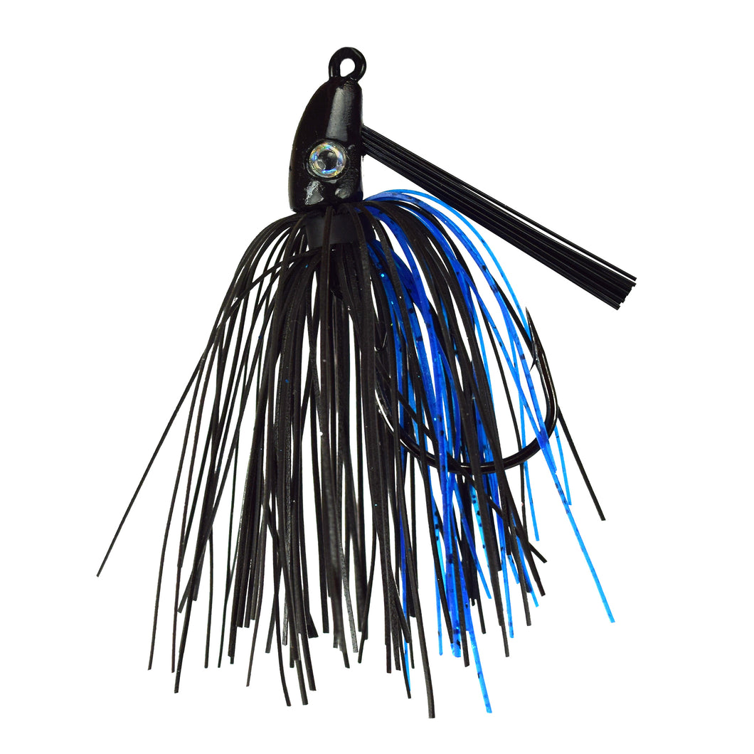 Trophy Bass Swim Jig 2-Pack 3/8-Ounce - Black Blue