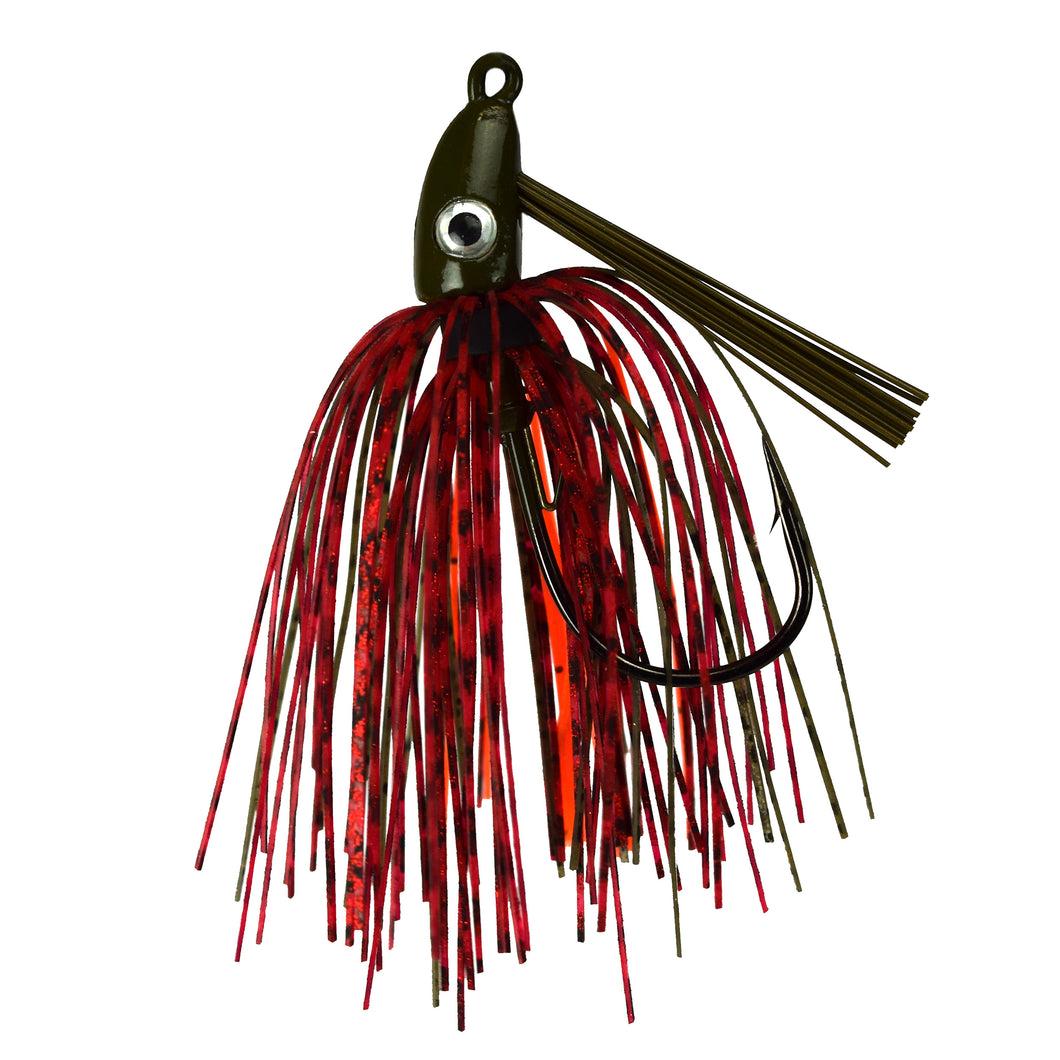 Trophy Bass Co Swim Jig 2-Pack 1/2-Ounce - Red Craw