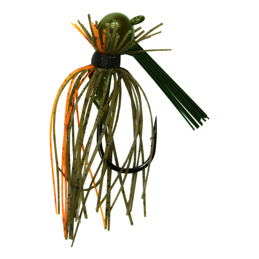 Trophy Bass Pro Finesse Jig 2-Pack 5/16-Ounce - Green Pumpkin & Orange