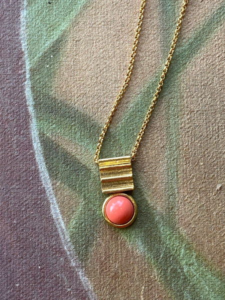 Coral Equation Necklace