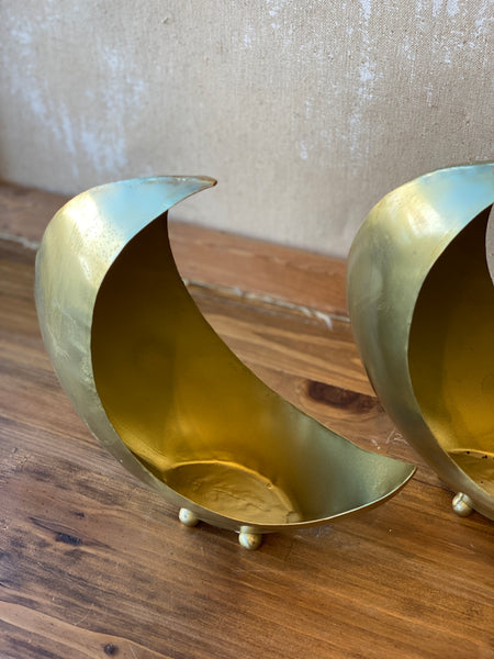 Brass Moon Planter