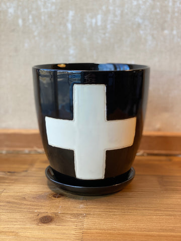 Swiss Cross Pot