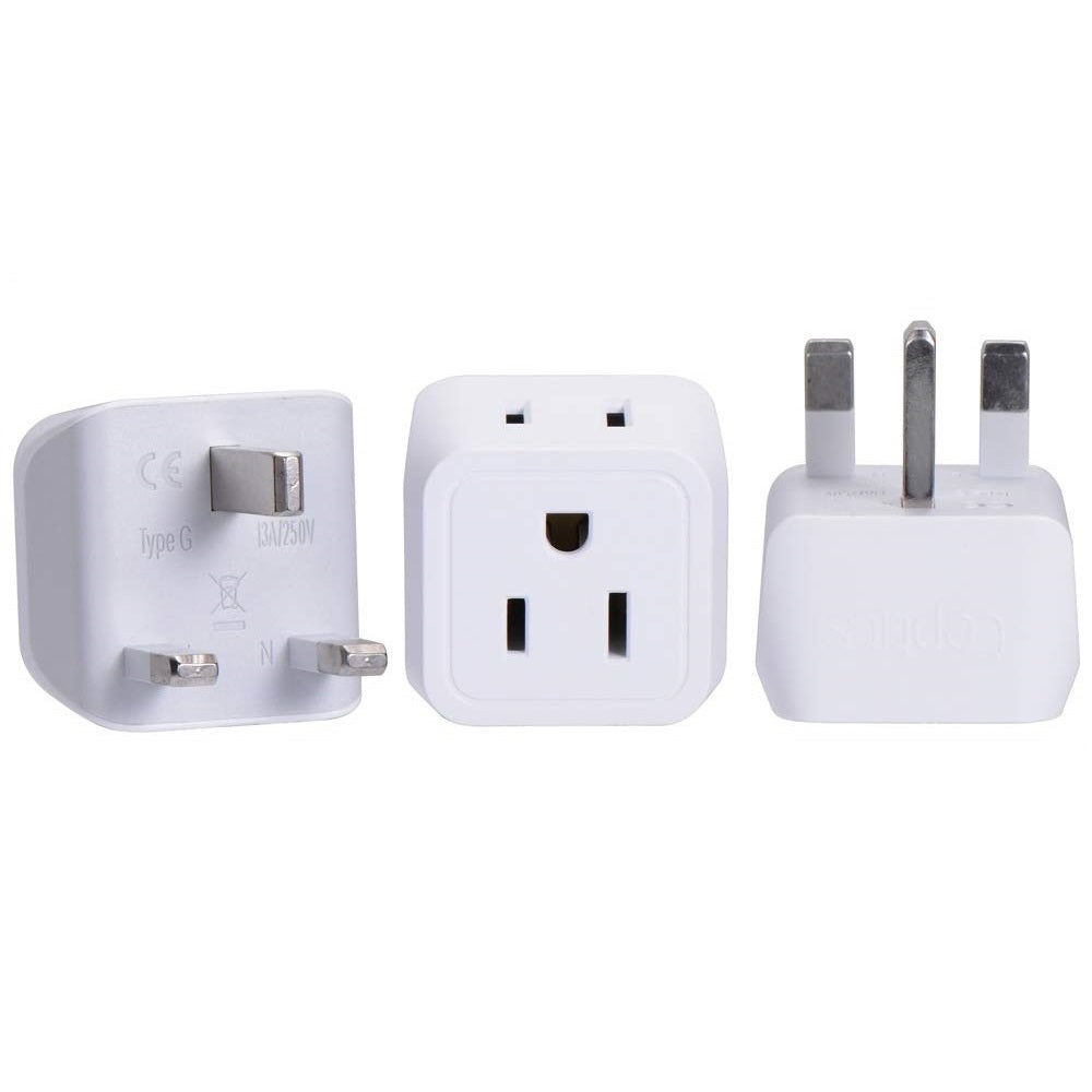 UK, England Travel Adapter - Type G - Dual USB (CT-7)