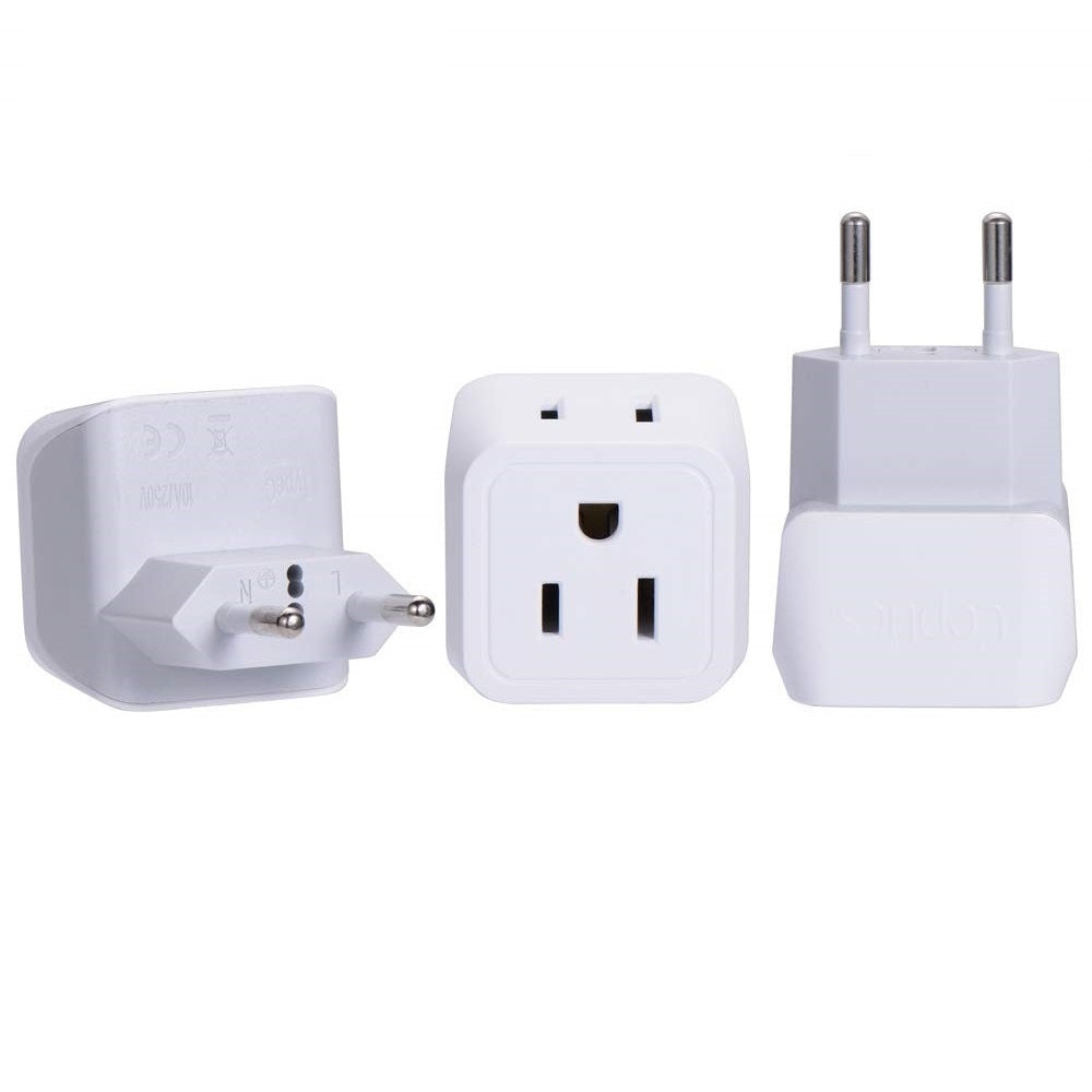 India Travel Adapter - Type D - Dual USB (CT-9C)
