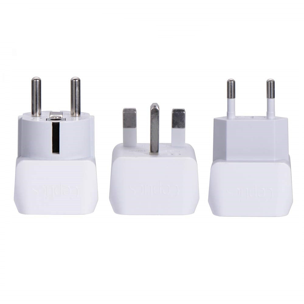 UK, England Travel Adapter - Type G - Ultra Compact (CT-7, 3 Pack)