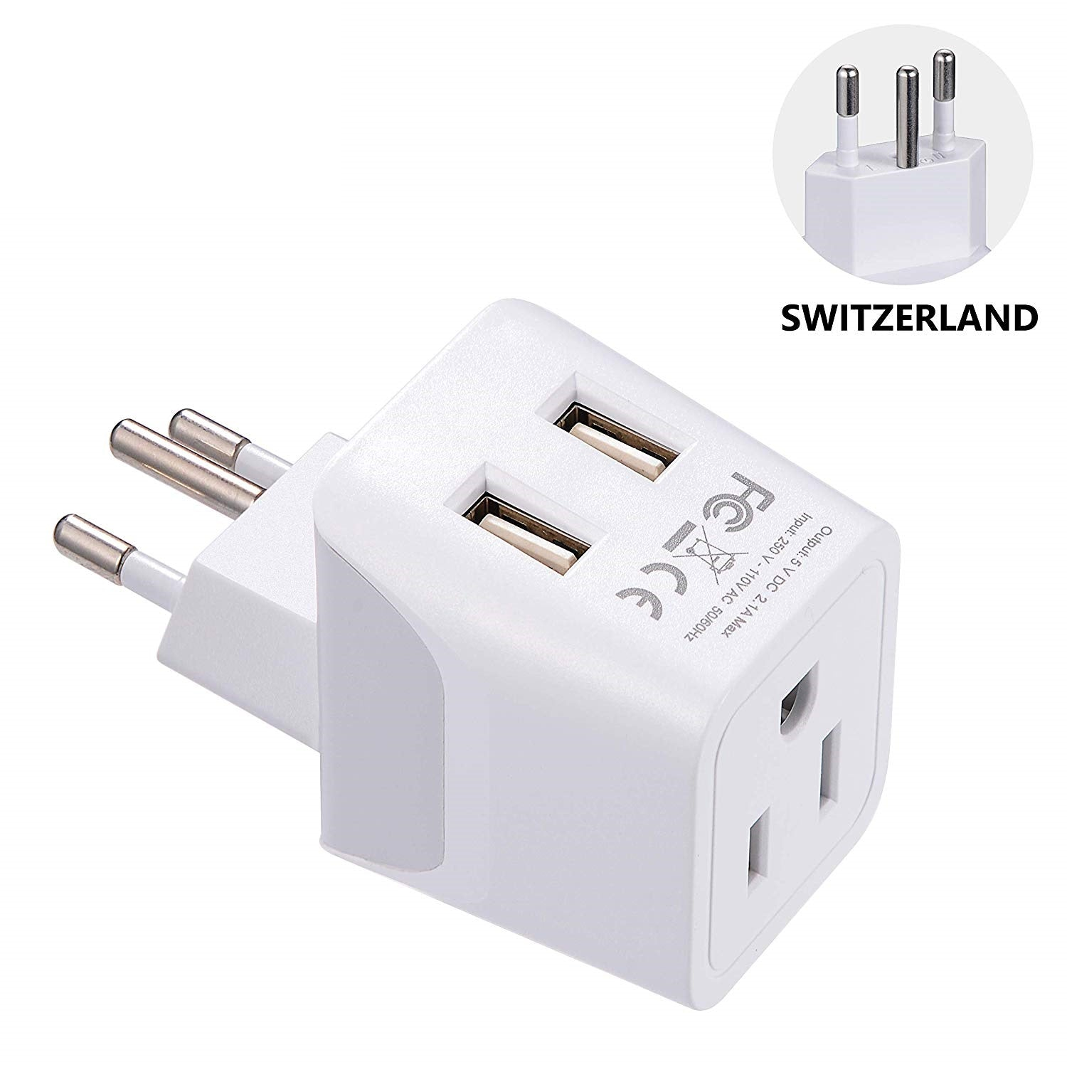 European Travel Adapter - Type C, E/F - 2 Pack (CTU-9-9C-PK)
