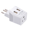 Brazil Travel Adapter - Type N - Dual USB (CTU-11C)