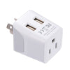 Japan, Philippines Travel Adapter - Type A - Dual USB (CTU-6)