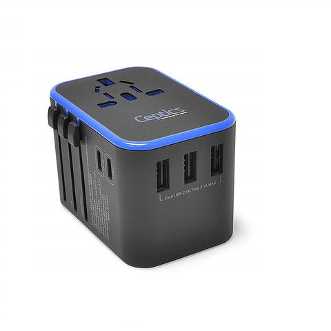 All-In-One International Travel Adapter Plug - 2 USB C with PD & QC 3.0 - 3 USB Ports (UP-11KU)
