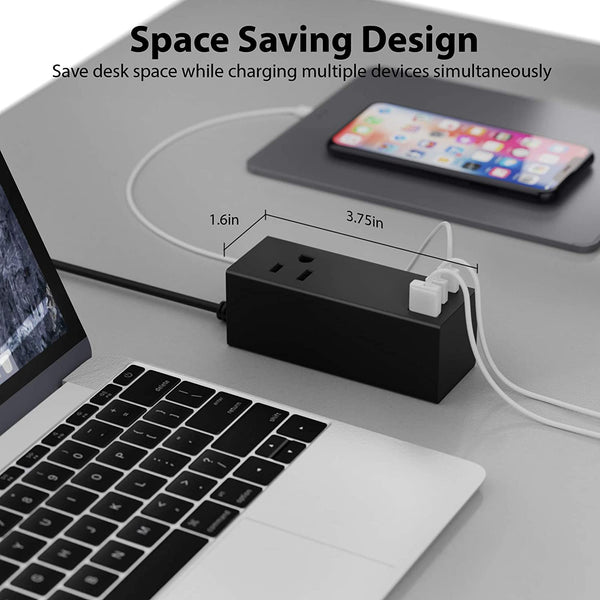 65W USB-C Power Strip Charger with USB +  Dual USB-C, 2 USA Input - Fast Charging (NANFUSE-PS)