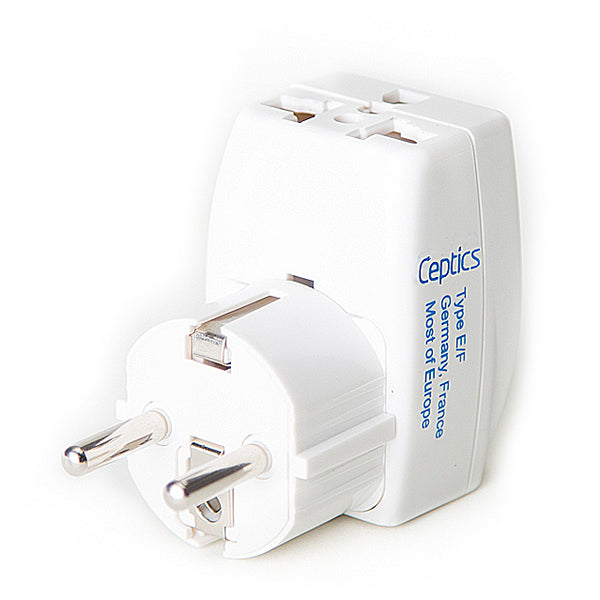European (Schuko) Travel Adapter - Type E/F - 3 in 1 (GP3-9)