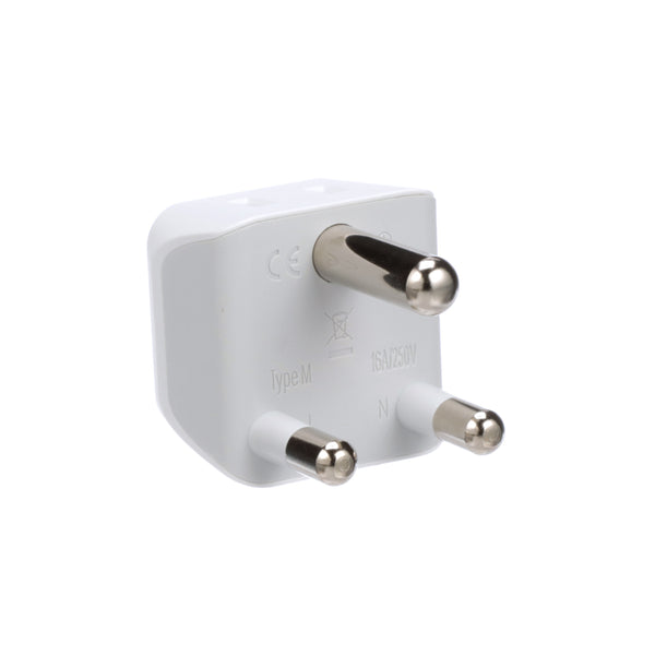 South Africa Travel Adapter - Type M - Ultra Compact (CT-10L, 3 Pack)