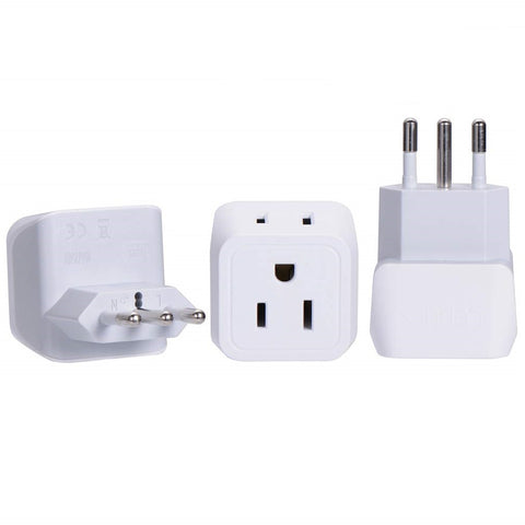 Italy Travel Adapter - Type L - Ultra Compact (CT-12A, 3 Pack)