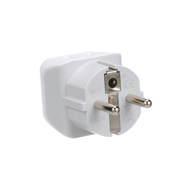 europe schuko travel adapter type e f ultra compact. Black Bedroom Furniture Sets. Home Design Ideas