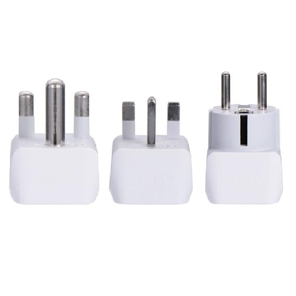 African Travel Adapter Set - Type M, G, E/F - 3pcs (CT-AF-SET)