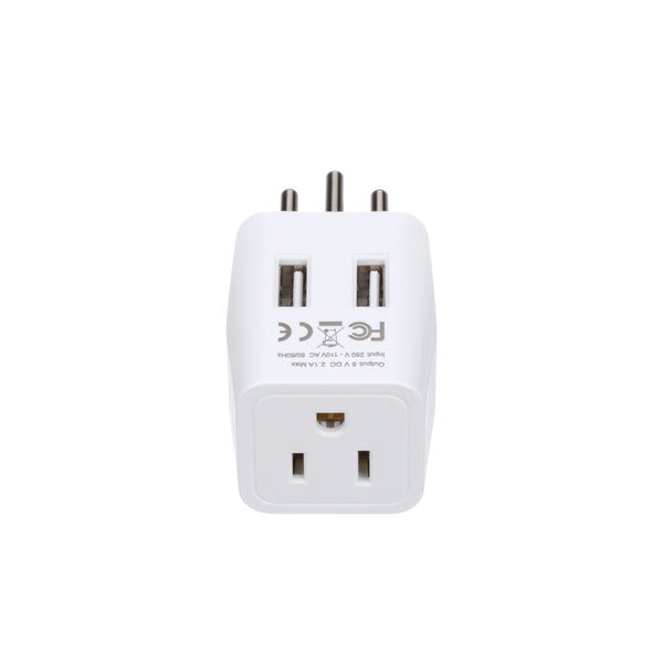 Switzerland Travel Adapter - Type J - Dual USB (CTU-11A)