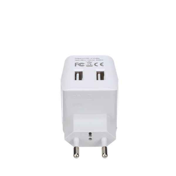 European, Egypt Travel Adapter Plug with Dual USB - Type C - 2 Pack