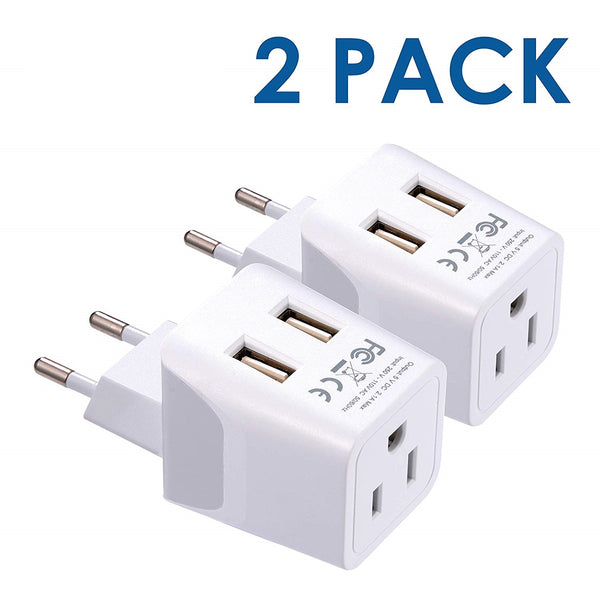 European Travel Adapter - Type C - Dual USB (CTU-9C)