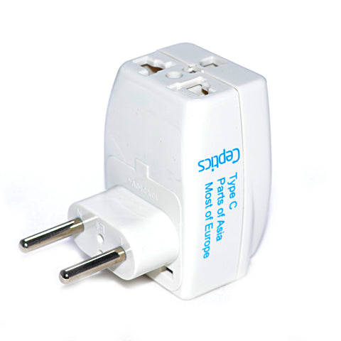 European Travel Adapter - Type C - 3 in 1 (GP3-9C)