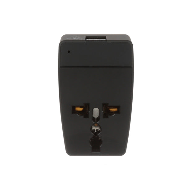 Italy Travel Adapter - Type L - 4 in 1 - 2 USB Ports (GP4-12A)
