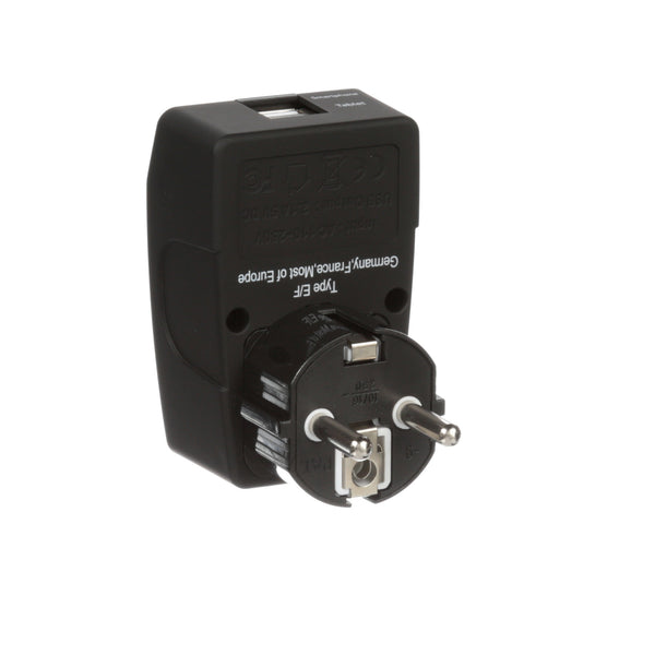 European Travel Adapter with USB GP4-9