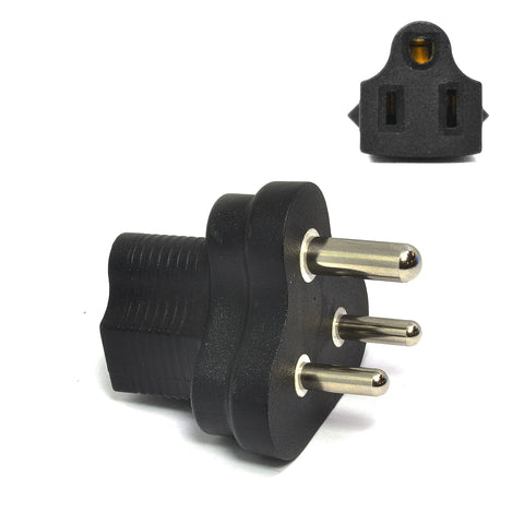 India Travel Adapter - Type D - Industrial Grade (IG-10)