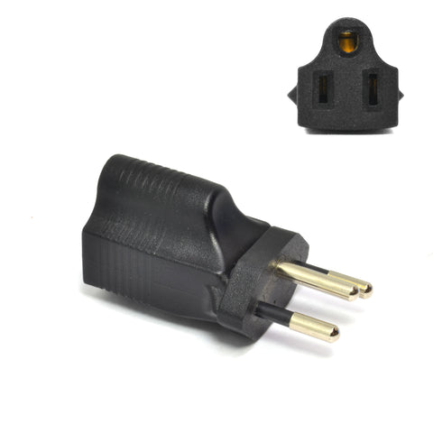 Brazil Travel Adapter - Type N - Industrial Grade (IG-11C)