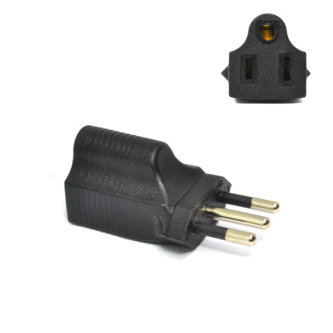 Italy Travel Adapter - Type L - Industrial Grade (IG-12A)