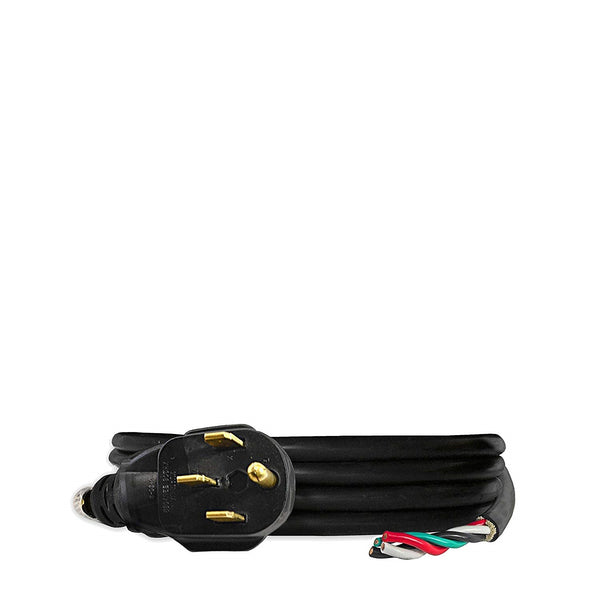 10-Ft 30-Amp Extension Power Cord (L14-50P to Bare Cut Live Wire)