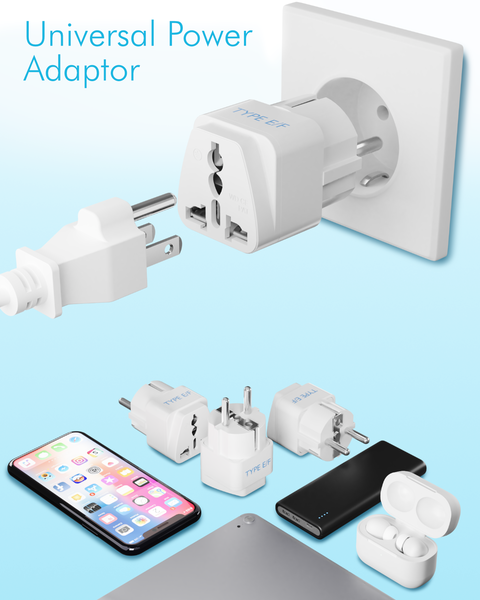 Denmark Travel Adapter - Type K - 3 Pack (GP-20)