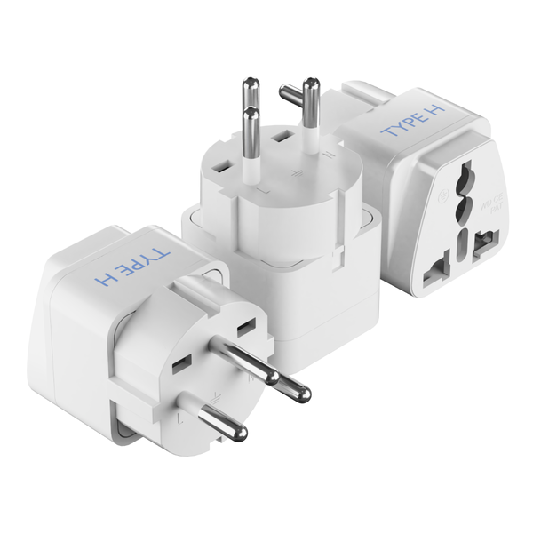 Israel Travel Adapter - Type H - 3 Pack (GP-14)
