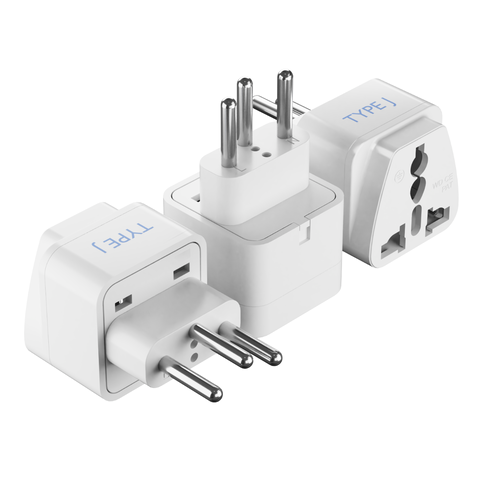 Switzerland Travel Adapter - Type J - 3 Pack (GP-11A)