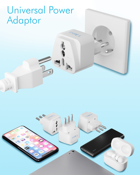 Italy Travel Adapter - Type L - 3 Pack (GP-12A)